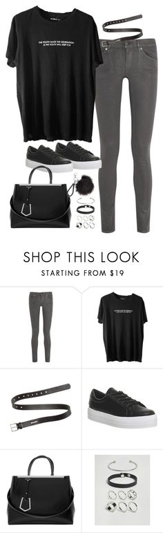 """Untitled#4611"" by fashionnfacts ❤ liked on Polyvore featuring 7 For All Mankind, Acne Studios, Office, Fendi and ASOS"