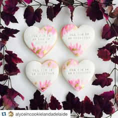 We just adore these 'Will you be my bridesmaid' cookies made by…