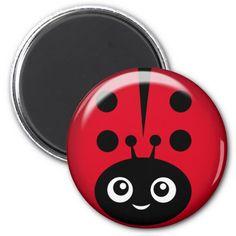 Shop ladybug magnet created by camerashyphotos. Ladybug Rocks, Ladybugs, Lady Bug Painted Rocks, Ladybug Crafts, Block Craft, Beautiful Bugs, Rock Decor, Pet Rocks, Digi Stamps
