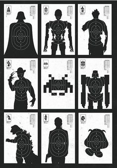 Finally, some targets geeks will appreciate: Olly Moss' has a sweet