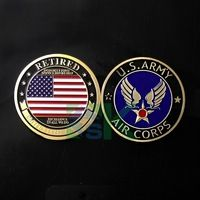 50pcs/lot 2016 New Wholesale United States Retired Air Force US Army Air Corps challenge souvenir coin