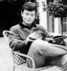 Pretty picture of DeForest Kelley (Dr. McCoy).