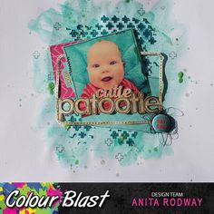 Project by DT Member Anita Rodway. General Crafts, Baby Scrapbook, Scrapbooking Layouts, Mixed Media, Colour, Album, Frame, Happy, Projects
