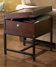 Look what I found on #zulily! Espresso Voyager Storage End Table by Southern Enterprises #zulilyfinds