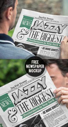 Free Newspaper Mockup PSD: