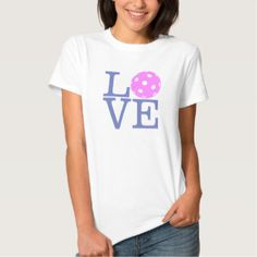 Women's Pickleball Love T-shirt. (15% OFF All Pickleball Apparel and Accessories)