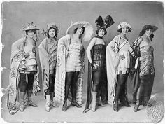 "Eubie Blake Chorus Girls in Exotic Costumes for ""Shuffle Along."" #black_history #african_american"