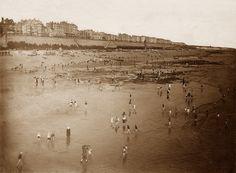 Sussex, Brighton Beach and Seawall circa Brighton Sea, Brighton Sussex, Brighton England, Brighton And Hove, Vintage Photographs, Vintage Photos, British Seaside, Vintage Travel Posters, Old Photos