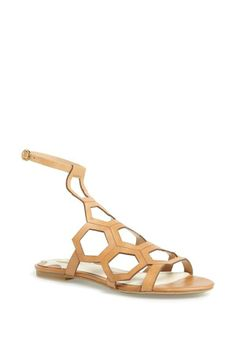 Want for spring! Honeycomb cutout sandal.