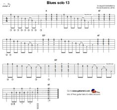 Play this blues solo with accurate tablature, chords and video lesson. Guitar Tabs Acoustic, Easy Guitar Tabs, Guitar Tabs Songs, Jazz Guitar, Guitar Solo, Guitar Chords, Guitar Scales, Lead Guitar Lessons, Electric Guitar Lessons