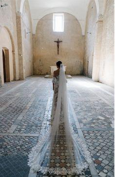 Wedding Bells, Our Wedding, Dream Wedding, Old World Wedding, Snow Wedding, Italy Wedding, Luxury Wedding, Wedding Gowns, Cathedral Wedding Veils