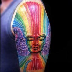 Hermosos colores de este Tatoo de Cecilia Reinoso.
