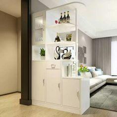 Room Partition Wall, Living Room Partition Design, Living Room Divider, Room Partition Designs, Living Room Decor, Room Divider Bookcase, Partition Ideas, Cheap Room Dividers, Modern Room Dividers