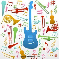 Instrumentos musicais vetor tamborilar Vetor grátis
