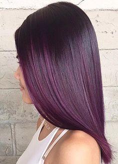 dark purple ombre for black hair