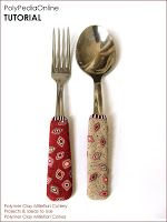 Polymeri Online - Iris Mishly Polymer Clay Blog: FREE VIDEO! How To Cover Cutlery With Millefiori Canes