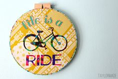 Taylor Made: Embroidery Hoop Art