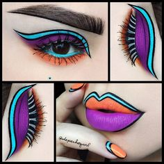 "37.2k Likes, 2,333 Comments - ☠ X✞iNA 💋 PronouncedAsDepesh (@depechegurl) on Instagram: ""💥💜 I decided to do a matching eye look with the nail and lip art 💜💥 I used…"""