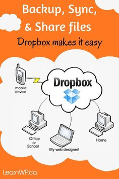 Backup your #WordPress website and share files with your web designer. Dropbox makes it easy.