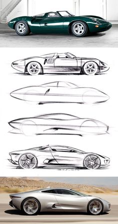 Jaguar unleashed a truly wild concept car, the Built as a platform to show the future direction of Jaguar and also to celebrate it's anniversary, the takes the idea of an environm… Car Design Sketch, Car Sketch, Design Autos, Industrial Design Sketch, Futuristic Cars, Motorcycle Design, Transportation Design, Automotive Design, Designs To Draw