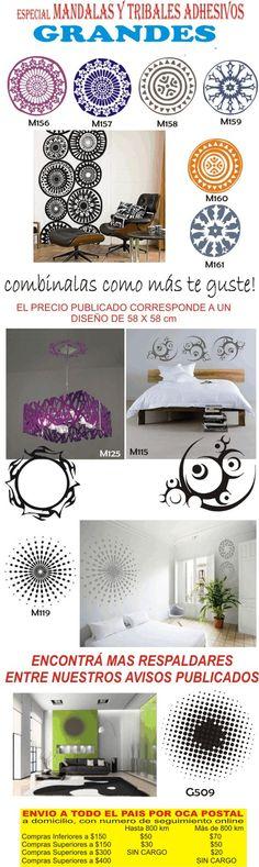 Vinilos Decorativos Mandalas Y Geometricos - Nuevos 2012 - $ 80,00 en MercadoLibre