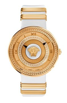 Versace  V-Metal Icon  Leather Strap Watch, 40mm available at  Nordstrom 61e74f6028bd