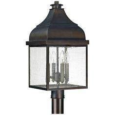 """Capital Westridge 22 3/4""""H Old Bronze Outdoor Post Light"""