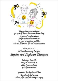 Largest Collection Of 50th Birthday Party Invitation Card Wording Samples And Ideas At CardsShoppe