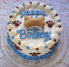 Happy Birthday Puppy, Happy Birthday Cakes, Dog Birthday, Happy Puppy, Birthday Cake For Dogs, Dog Cake Recipes, Dog Food Recipes, Cooking Recipes, Fudge Flavors
