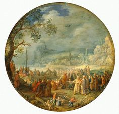 David Vinckenboons. Проповедь Христа на Генисаретском  озере (1623, Hermitage Museum, Saint Petersburg)