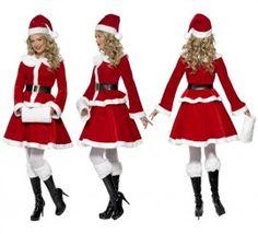 Disfraz de Mamá Noel para Mujer en varias tallas para Navidad