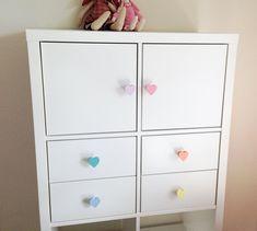 Herz Pastell   Möbelgriff / Möbelknopf Für Kinderzimmer