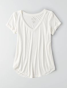 AEO Soft & Sexy Favorite T-Shirt , True Black | American Eagle Outfitters