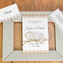 Komplet - svatební oznámení, jmenovky,..