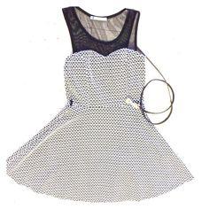 Sweetheart neckline mesh dress. Sweetheart neckline mesh flared dress. Papaya Dresses