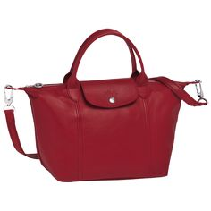 Longchamp Le Pliage Cuir Hand-held bag Red