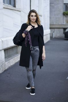 Cappotto senza maniche #sleveless #outfit #greyjeans
