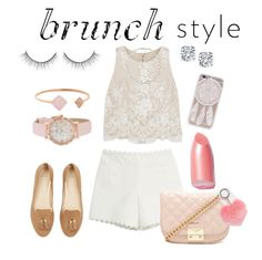 """Brunch Style"" by pandadonuttwin ❤ liked on Polyvore featuring Moschino Cheap & Chic, Alice + Olivia, Forever 21, Michael Kors, Kate Spade, ASOS, Elizabeth Arden and Carolee"