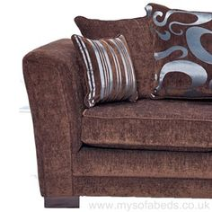 Made in the UK, stylish sofa bed available in multiple colours. Memory foam mattress for comfort. Free scatter cushions!