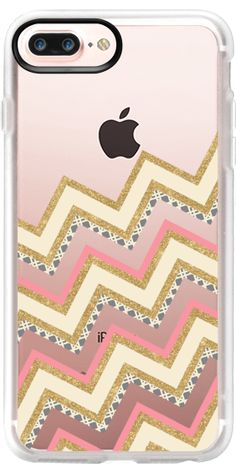 Casetify Protective iPhone 7 Plus Case and iPhone 7 Cases. Other Pattern iPhone Covers - Chevron Gold by Bari J. Designs | Casetify