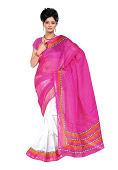 ff2ab3213db Digital  Magenta Printed  Saree One of the most dazzling apparel from  Fabdeal house has