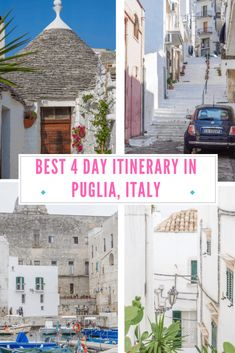 Best 4 days in Puglia itinerary - trulli, blue sea and cobbler streets #pugliaitaly #puglia #italia