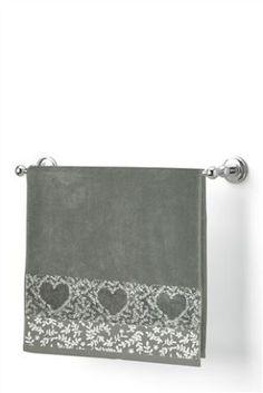 Buy Grey Heart Bath Mat from the Next UK online shop