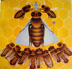 Queen Bee   by art.crazed FromThe Bee, written and illustrated by Iliane Roels, Grosset & Dunlap, 1969.