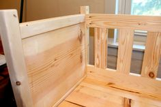 Yes, this co-sleeper is homemade out of lumber from Lowes. With very basic tools and at 8 1/2 months preggo! It was so sweet and fun to make! Around 7 months pregnant I started looking...