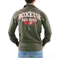 Felpa uomo Boxeur des rues verde militare 36 4f64a10e583