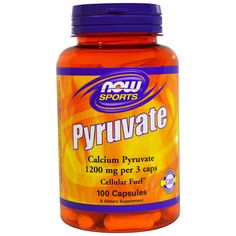 Now Foods, Pyruvate, 1200 mg, 100 Capsules жиросжигатель