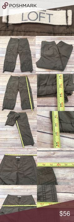 🎀NWT Size 4 LOFT Lightweight Cargo Capri Pants Measurements are in photos. NWT, no flaws. C3/32  I do not comment to my buyers after purchases, due to their privacy. If you would like any reassurance after your purchase that I did receive your order, please feel free to comment on the listing and I will promptly respond.   I ship everyday and I always package safely. Thank you for shopping my closet! LOFT Pants Capris
