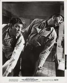 THE SONS OF KATIE ELDER (1965) - Earl Holliman throws a left-handed punch - Directed by Henry Hathaway - Paramount Pictures - Movie Still.
