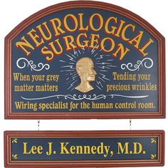 Personalized Neurological Surgeon Custom Wood Sign